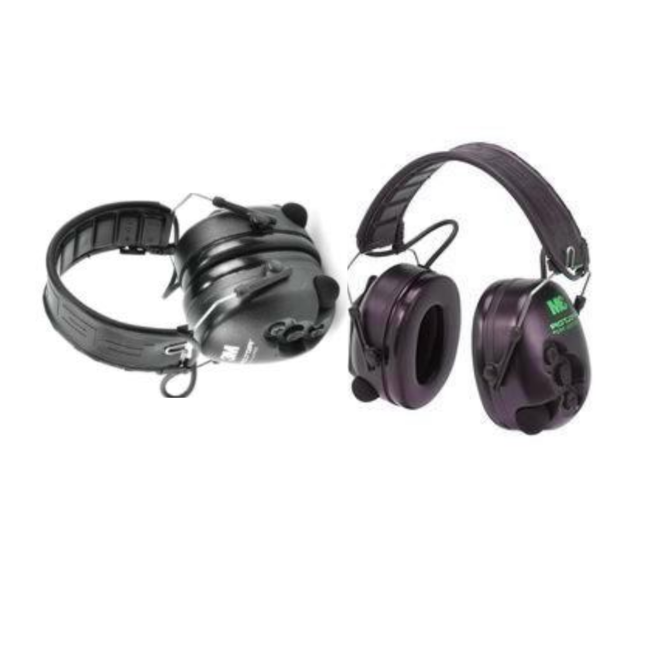 2 black sets of 3M Peltor SV Tactical Pro Hearing Protector EarMuffs for hunting