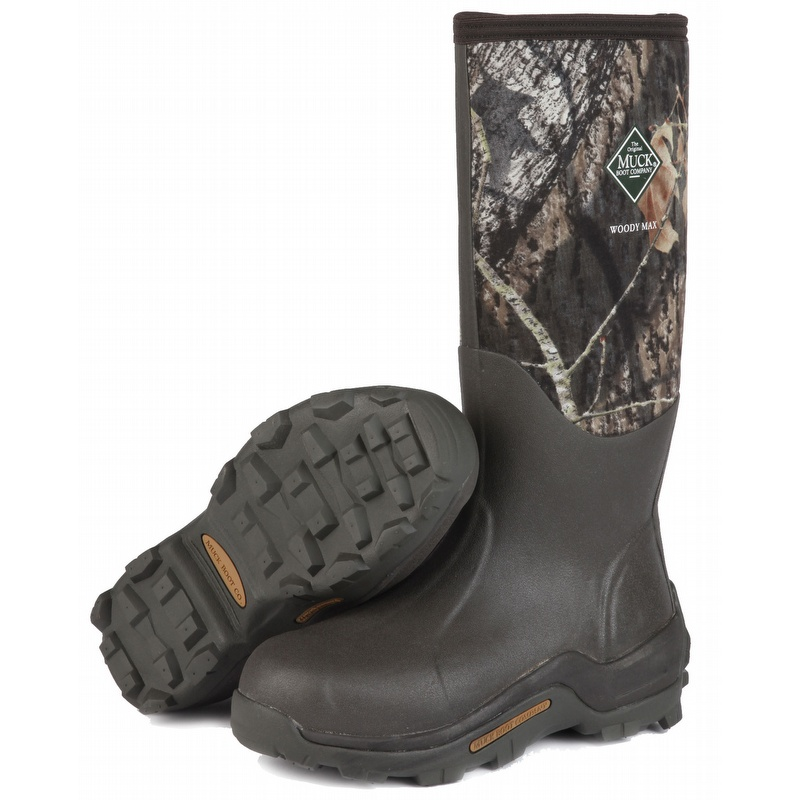 Mossy Oak Muck Boot Woody Max Rubber Insulated Hunting Boot