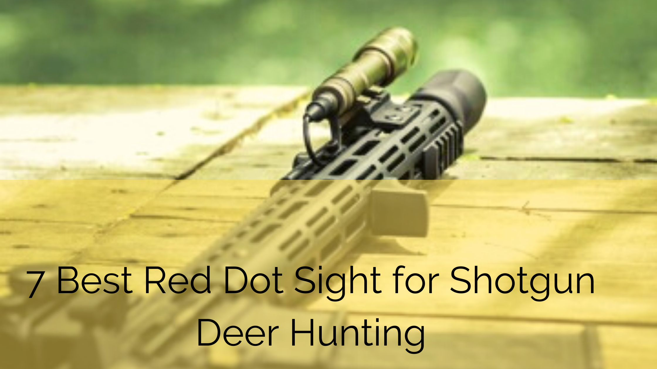 AR15 shotgun fitted with best red dot sight for deer hunting