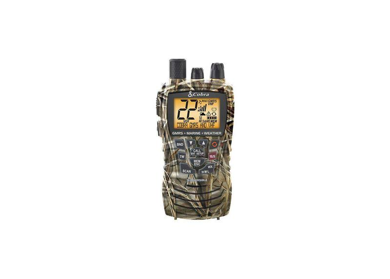a piece of Cobra MR HH450 CAMO Handheld Floating VHF Radio