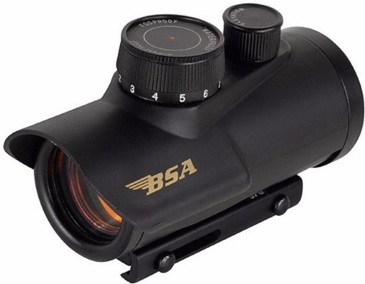 BSA Optics 30mm Matte Black Finish Red Dot Sight for deer hunting