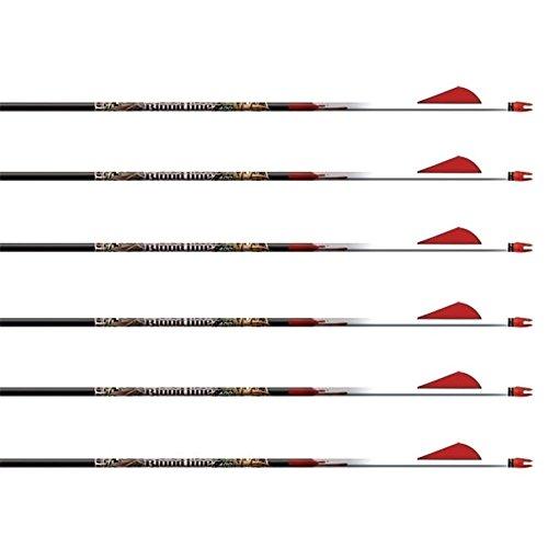 a set of 6 black peices of Easton 019330TF Bloodline arrows
