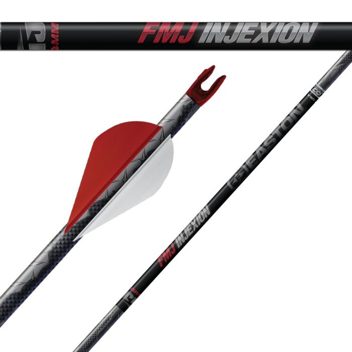three red pieces of Easton Full Metal Jacket Arrows