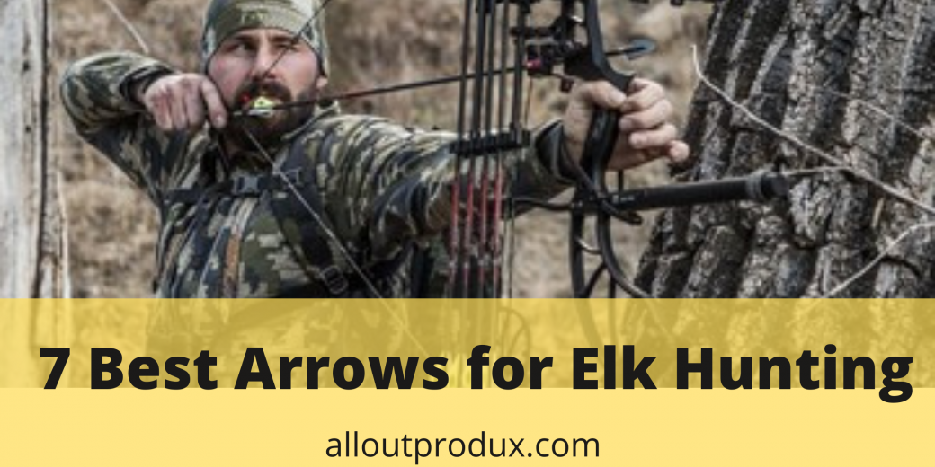 a hunter using a crossbow to shoot an elk with an elk arrow in the woods