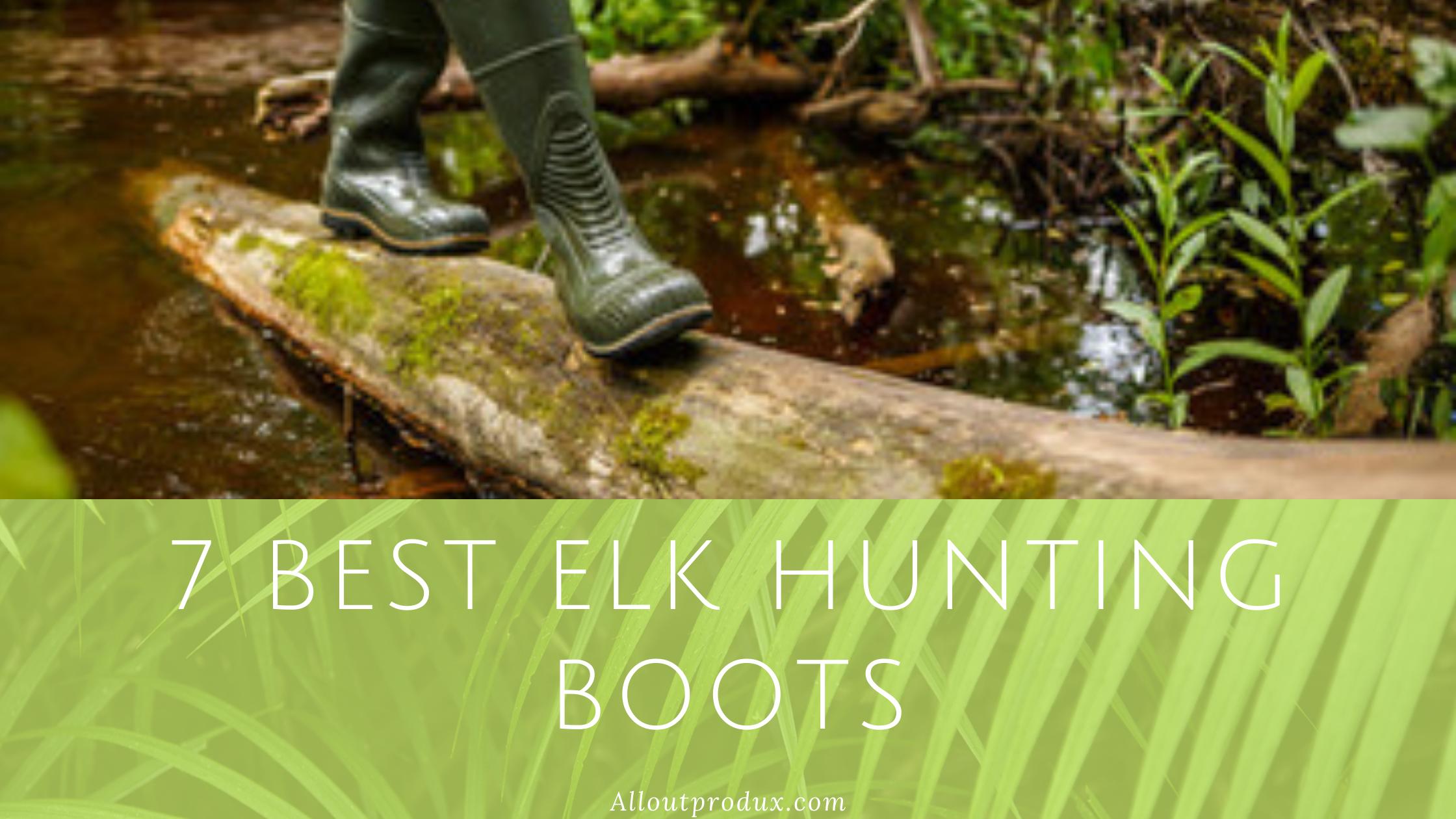 man walking in the woods wearing elk hunting boots