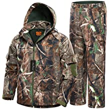 NEW VIEW 2020 Upgrade Hunting Clothes for Men, Silent Water Resistant Hunting Suits, Camo Hunting Camouflage Hooded Jacket, Hunting Pants