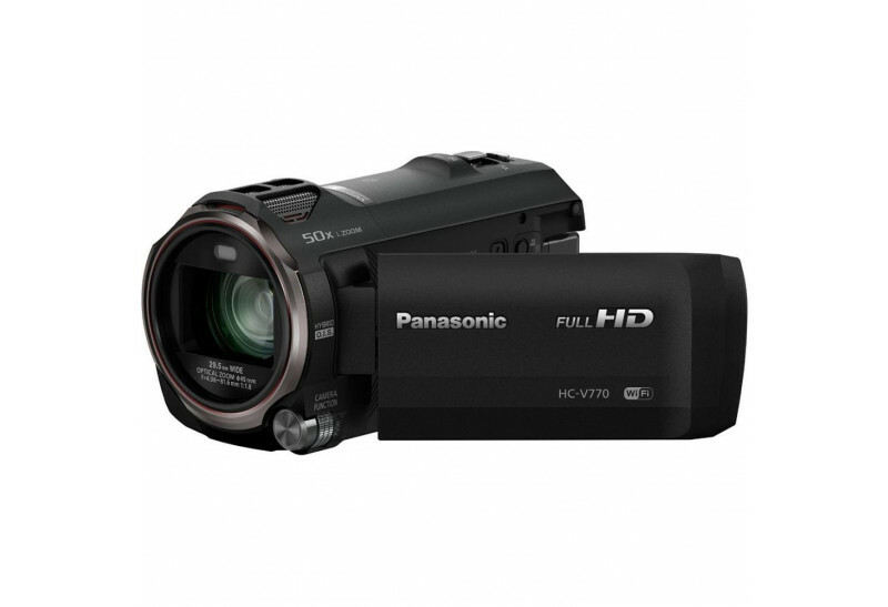 a black Panasonic HC-V770 camcorder for deer hunting