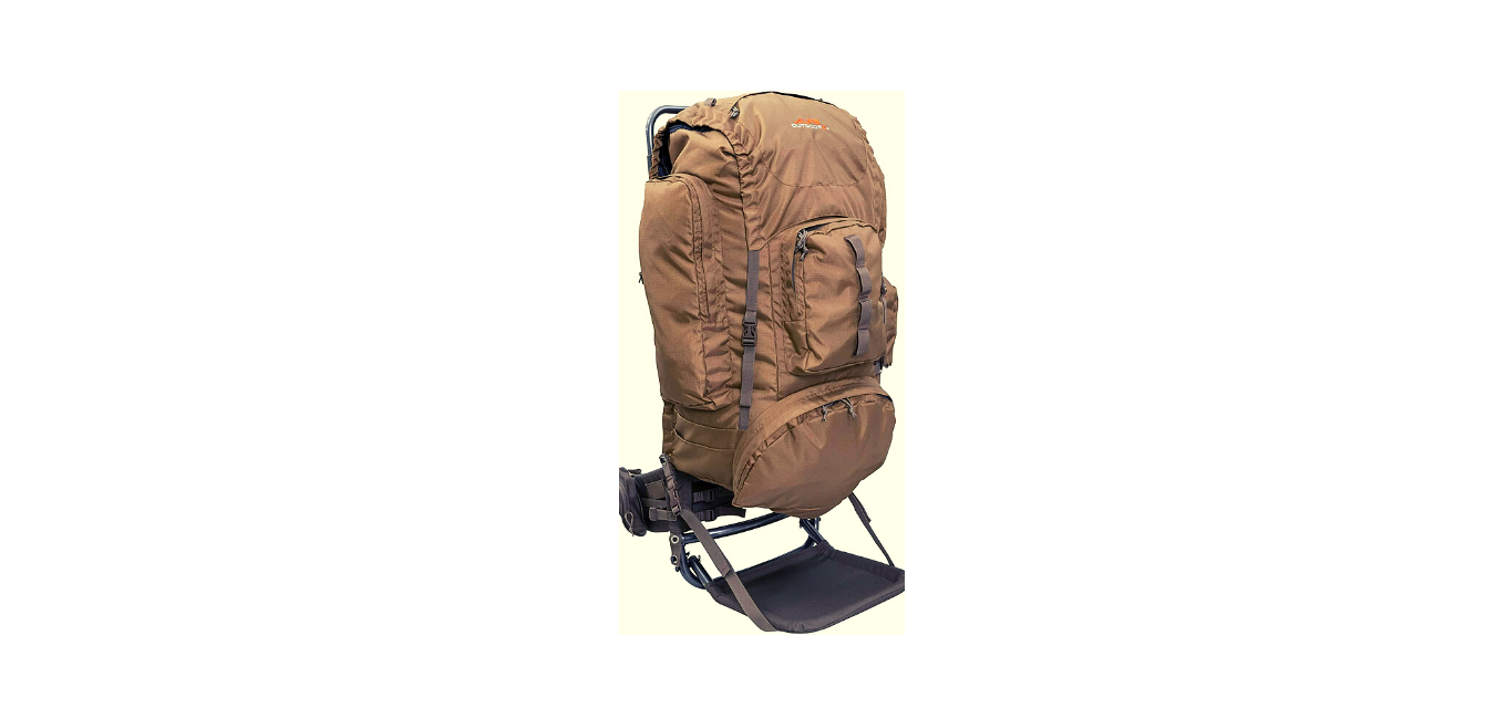 A coyote brown ALPS OutdoorZ Commander + Pack Bag for elk hunt