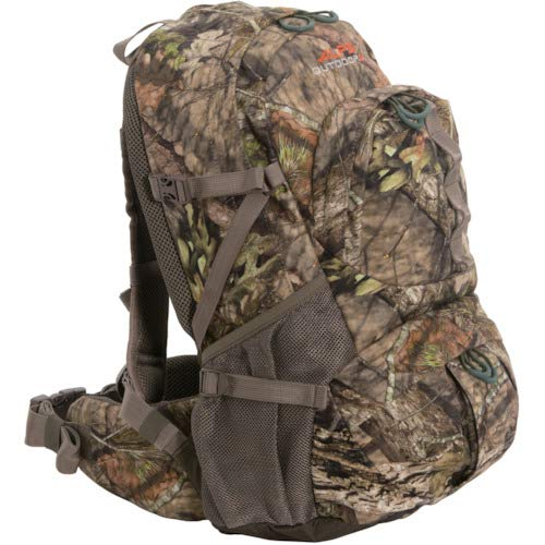 a real tree ALPS OutdoorZ Dark Timber Hunting Daypack for elk hunt