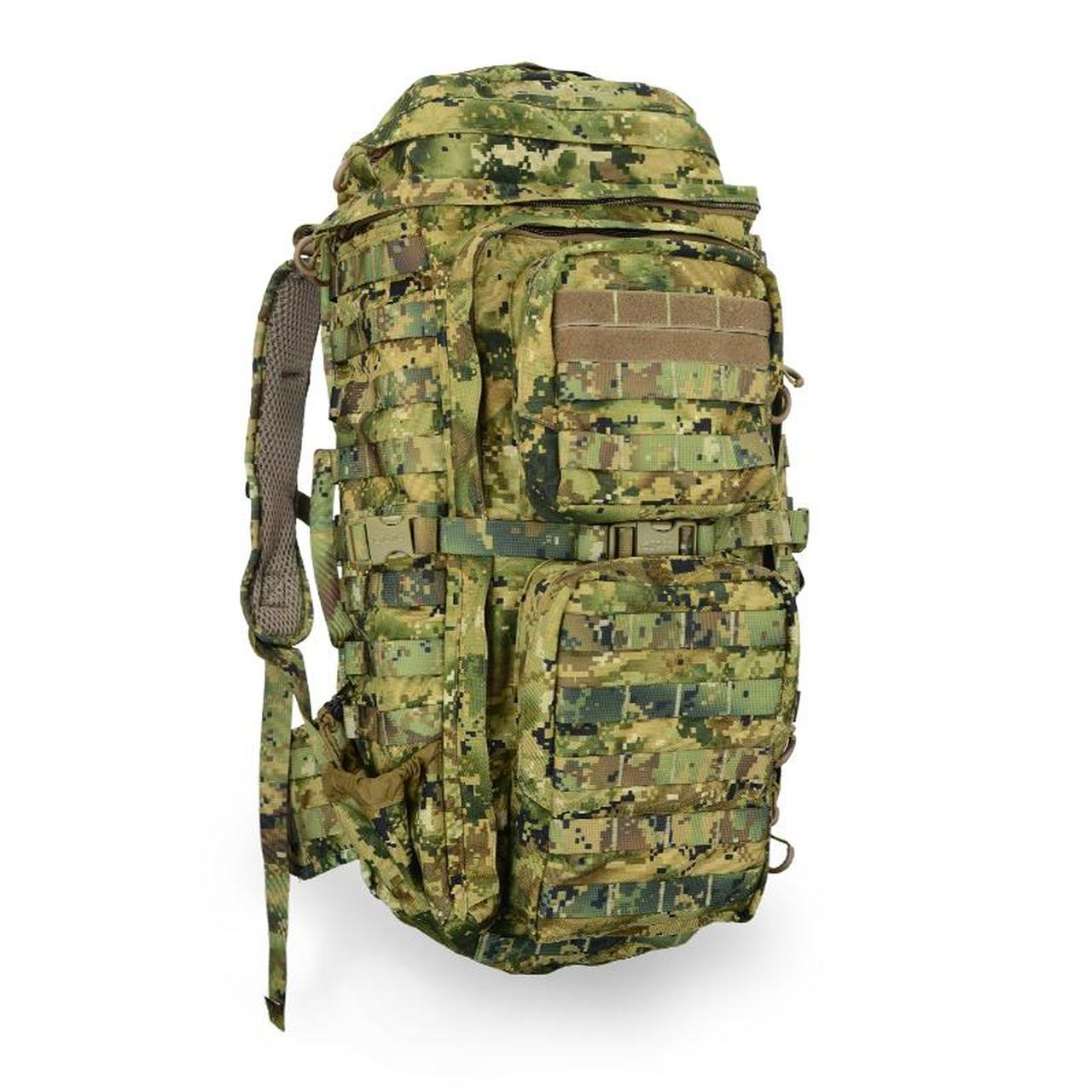 a camo Eberlestock FAC Track Pack for elk hunt