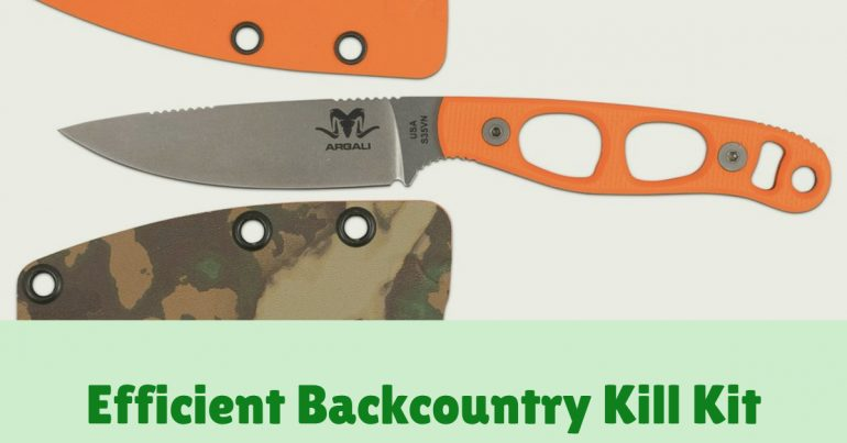 Efficient Backcountry Kill Kit